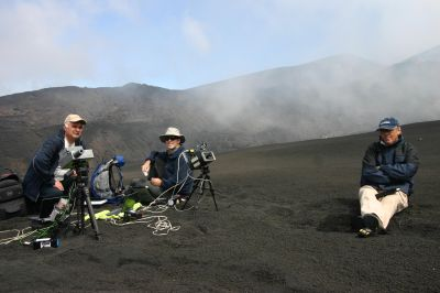 Spectroradiometer and sun photometer in use on Mt. Etna