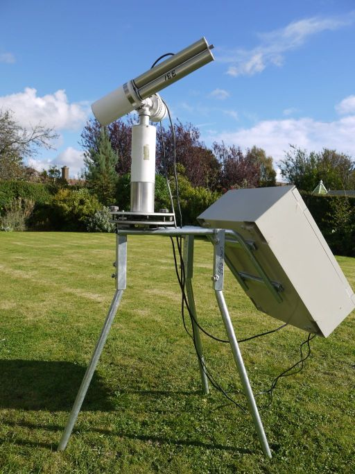 Cimel sunphotometer with mounting frame